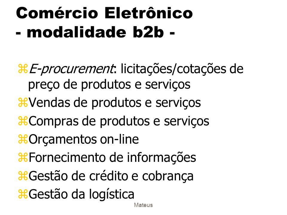 Comércio Eletrônico - modalidade b2b -