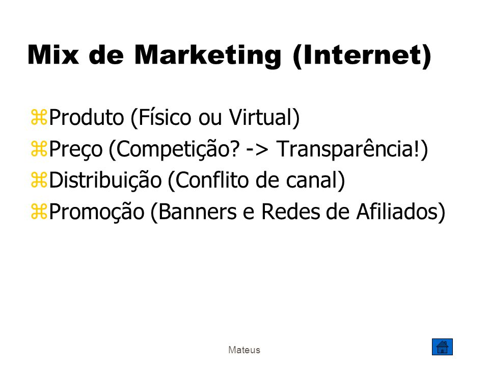 Mix de Marketing (Internet)
