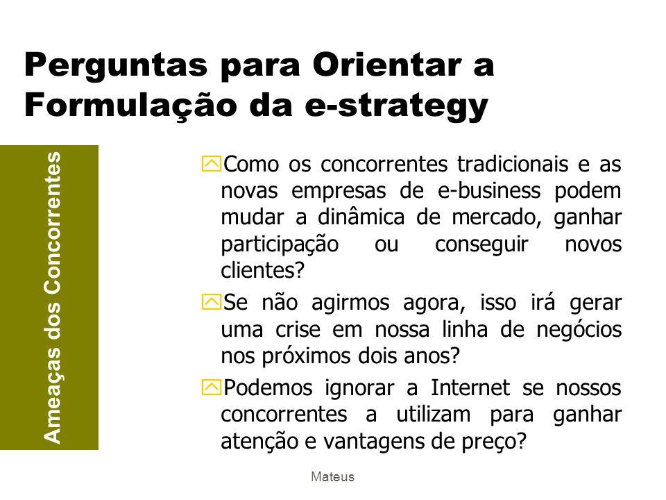 Perguntas para Orientar a Formulação da e-strategy