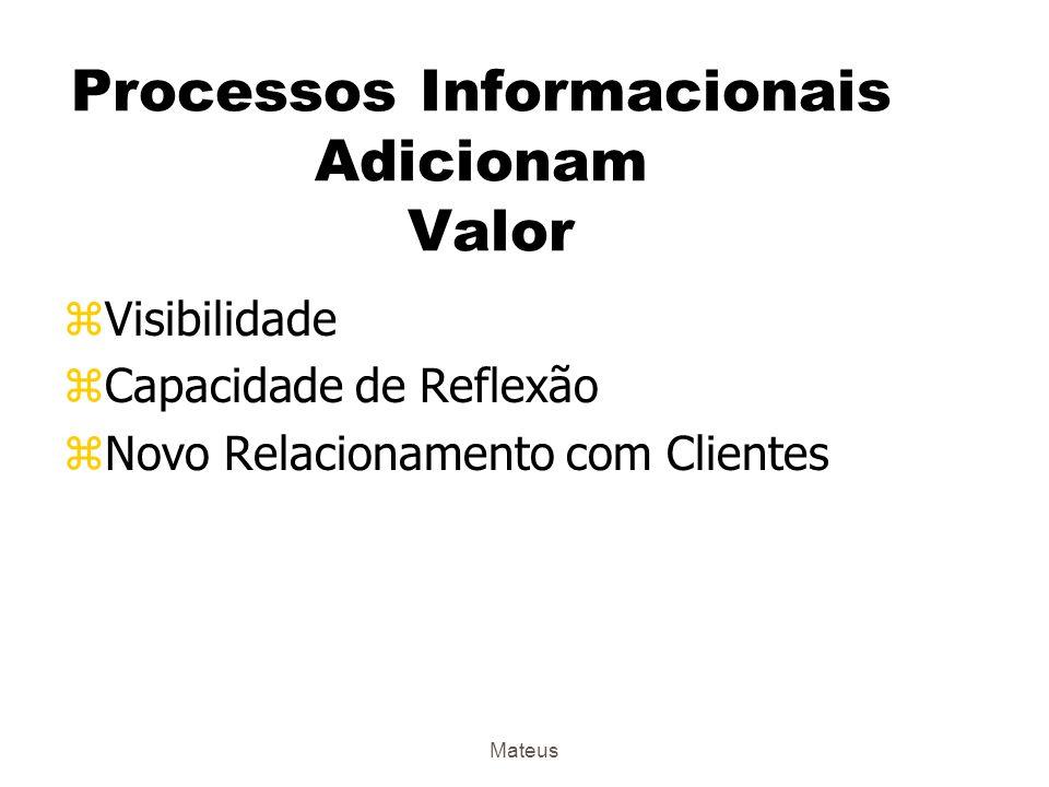 Processos Informacionais Adicionam Valor