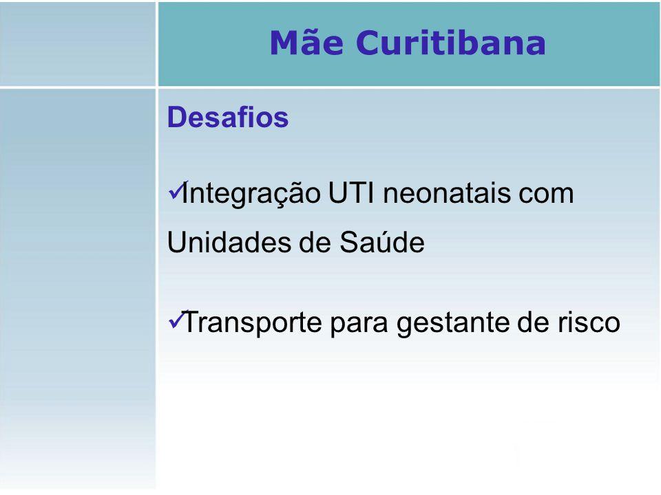 Mãe Curitibana Desafios Integração UTI neonatais com Unidades de Saúde