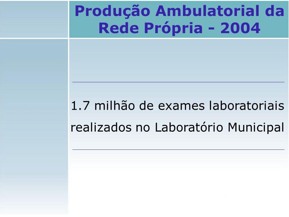 Produção Ambulatorial da Rede Própria - 2004