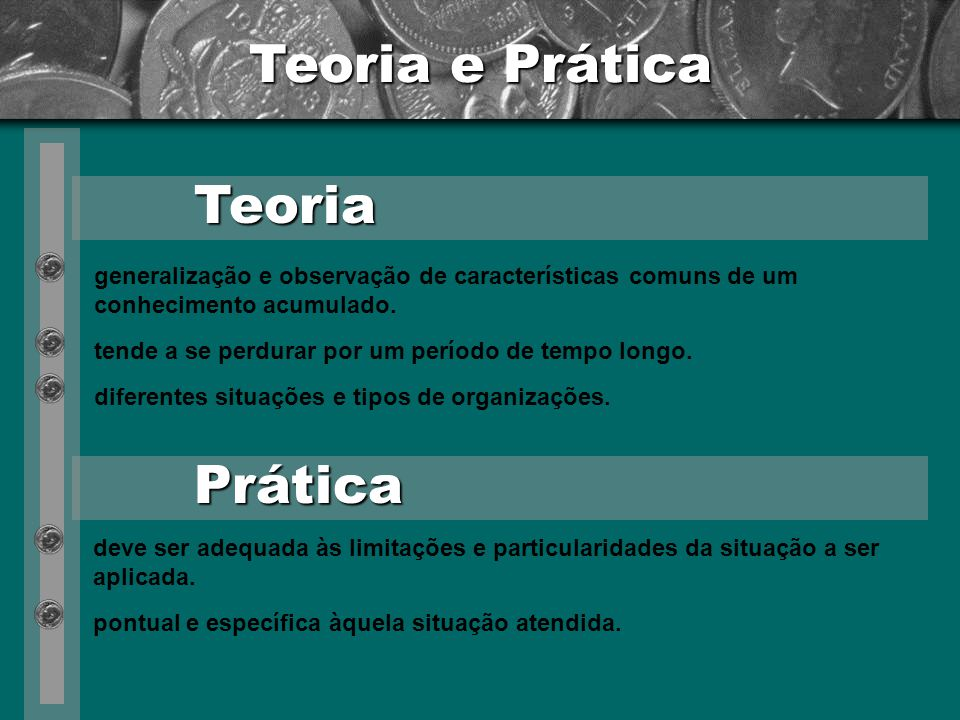 Teoria e Prática Teoria Prática