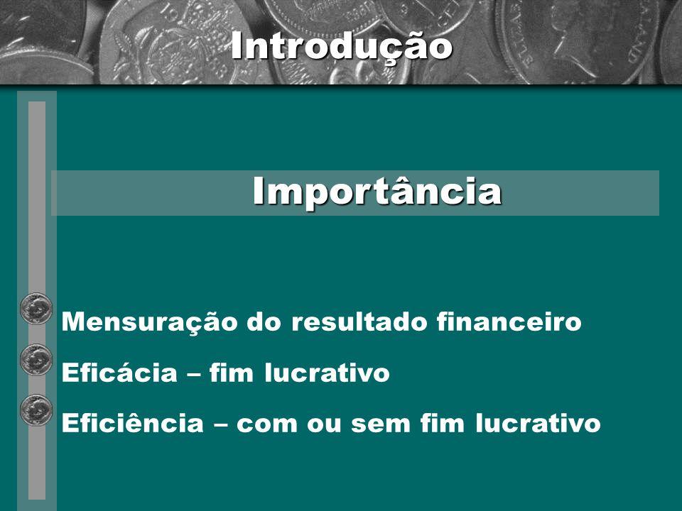 Introdução Importância Mensuração do resultado financeiro