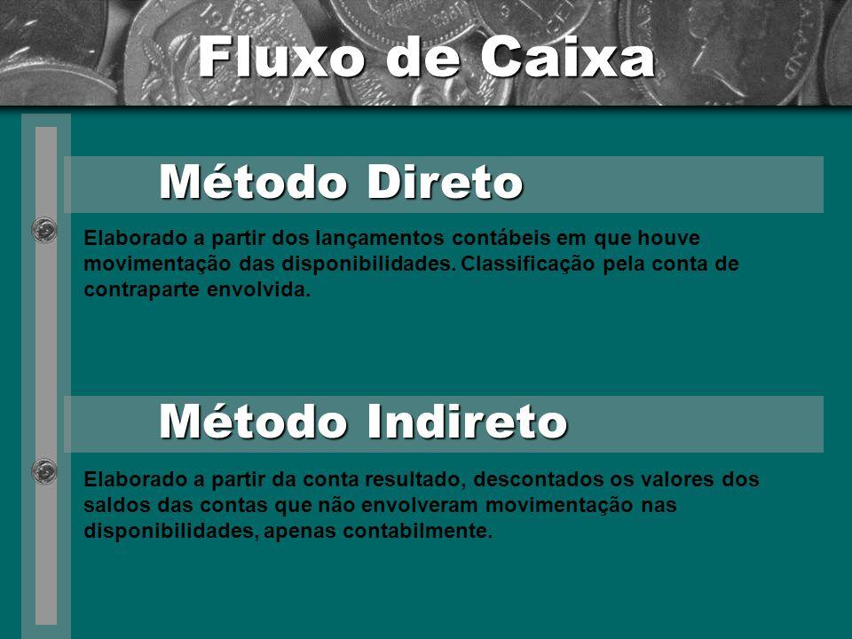 Fluxo de Caixa Método Direto Método Indireto