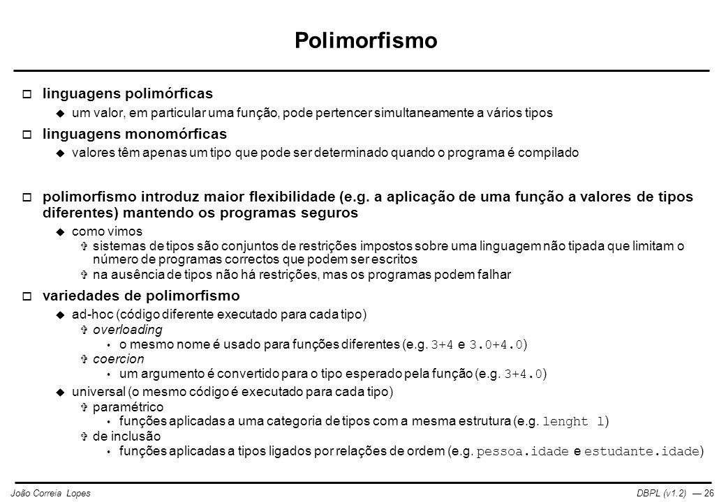 Polimorfismo linguagens polimórficas linguagens monomórficas