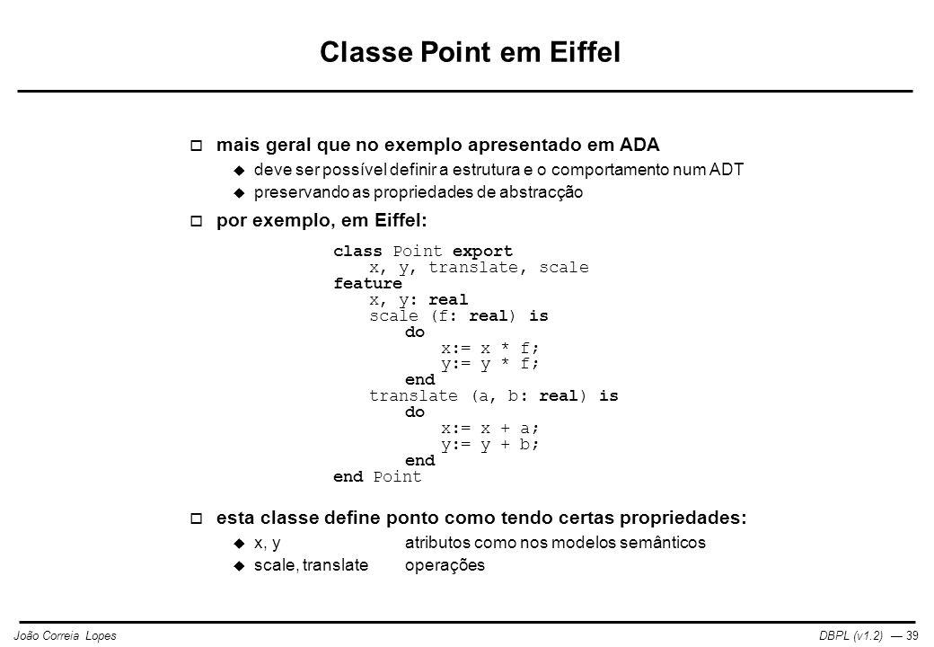 Classe Point em Eiffel mais geral que no exemplo apresentado em ADA