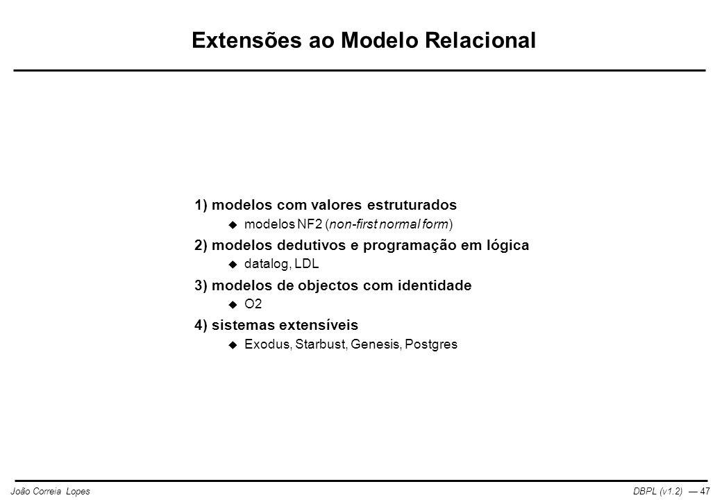 Extensões ao Modelo Relacional