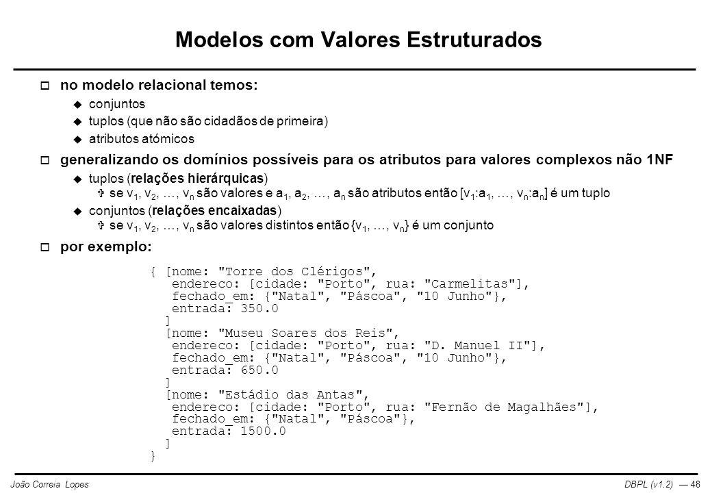 Modelos com Valores Estruturados