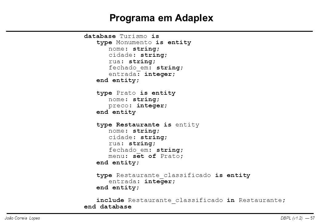 Programa em Adaplex