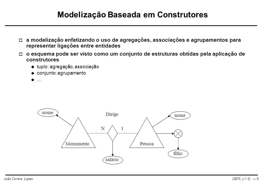 Modelização Baseada em Construtores