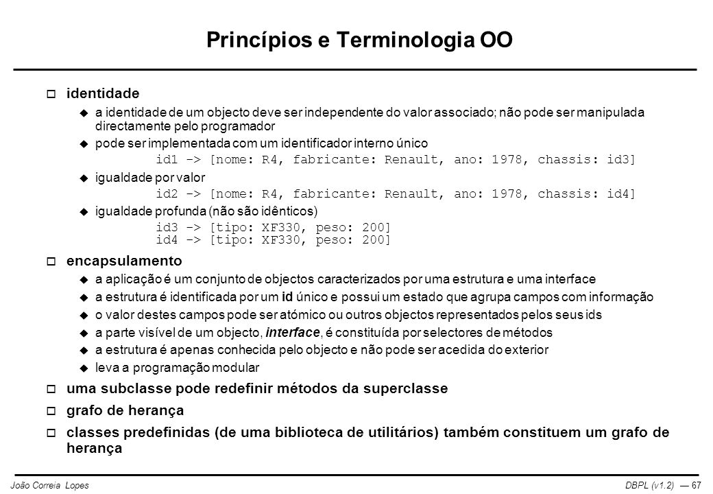 Princípios e Terminologia OO
