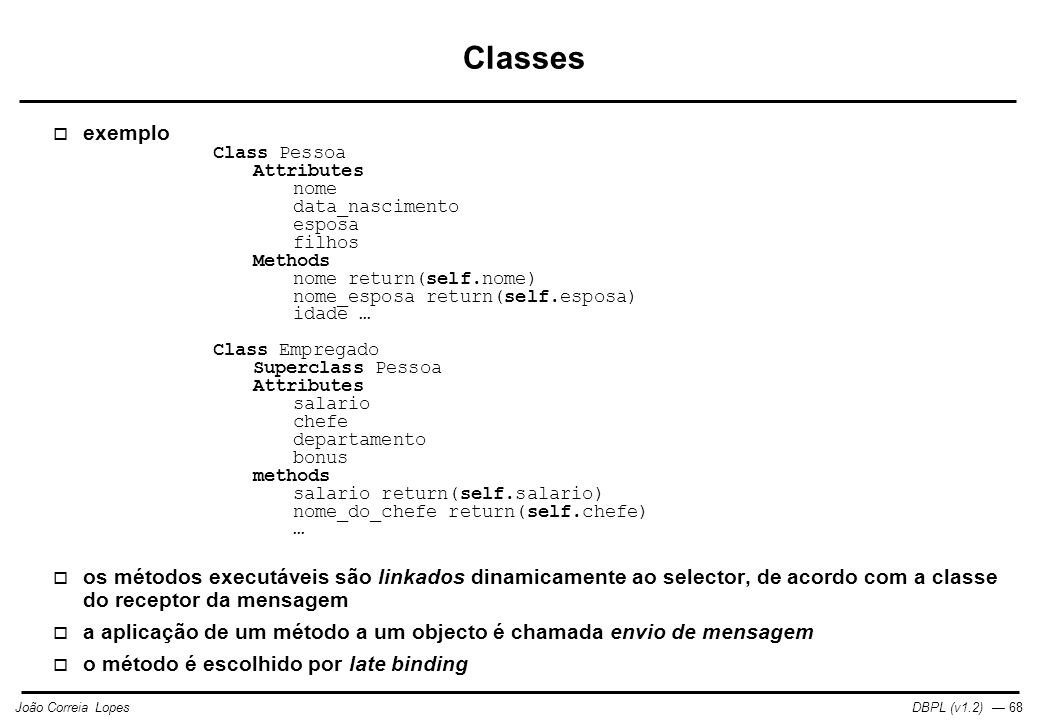 Classes exemplo.