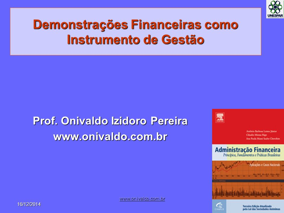 Demonstrações Financeiras como Instrumento de Gestão