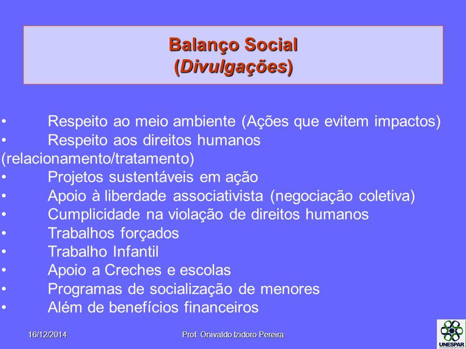 Balanço Social (Divulgações)