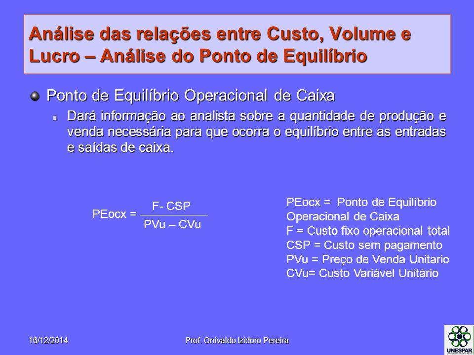 Prof. Onivaldo Izidoro Pereira