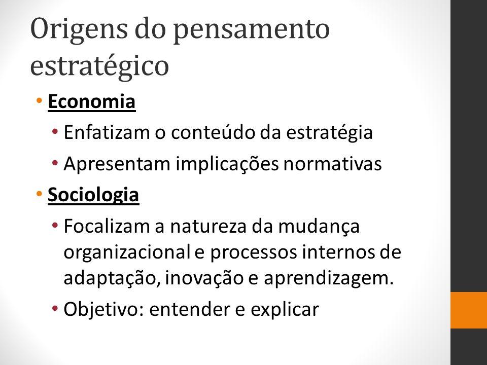 Origens do pensamento estratégico