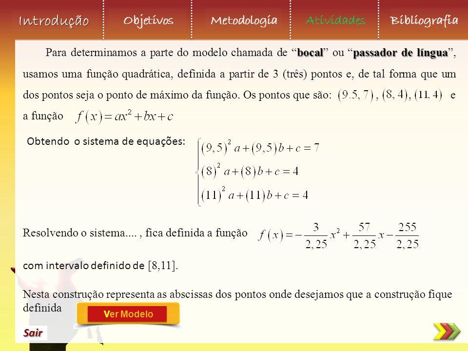 Obtendo o sistema de equações: