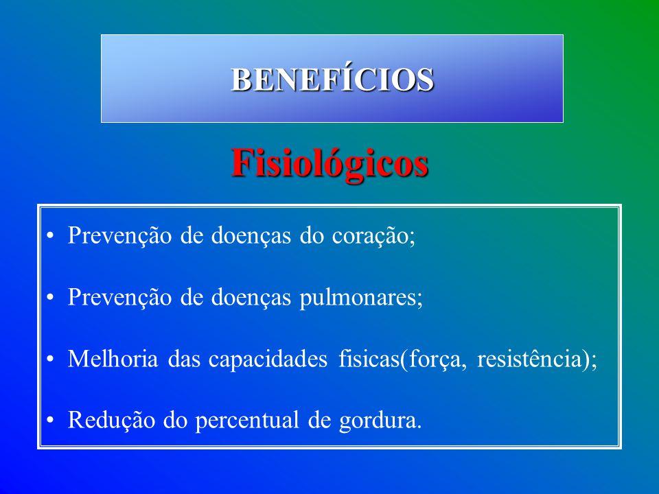 Fisiológicos BENEFÍCIOS Prevenção de doenças do coração;