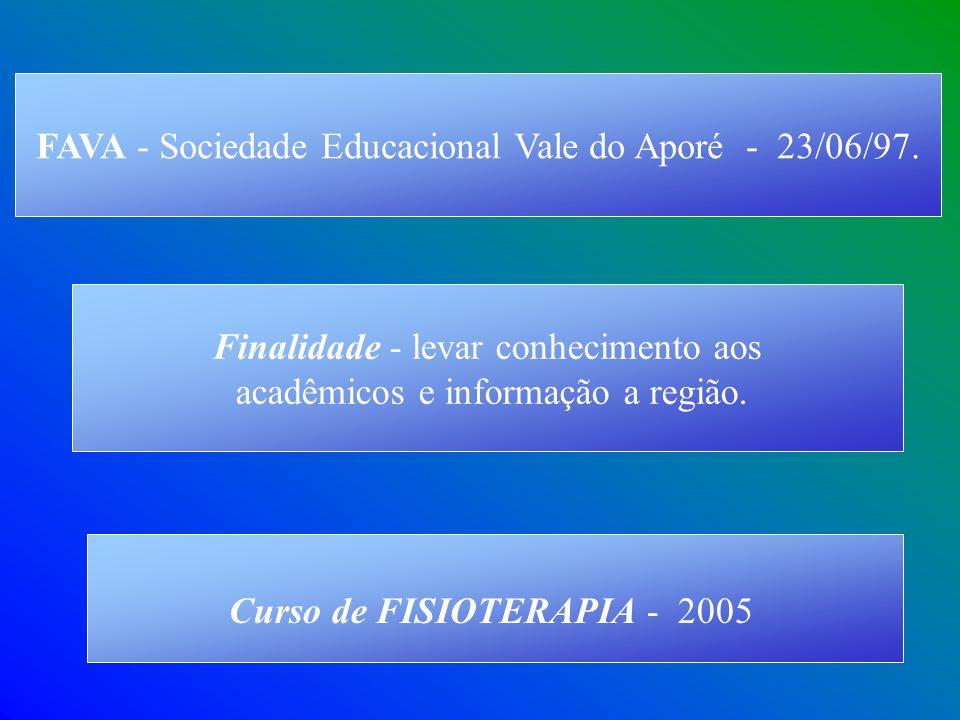 FAVA - Sociedade Educacional Vale do Aporé - 23/06/97.