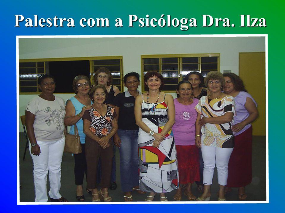 Palestra com a Psicóloga Dra. Ilza
