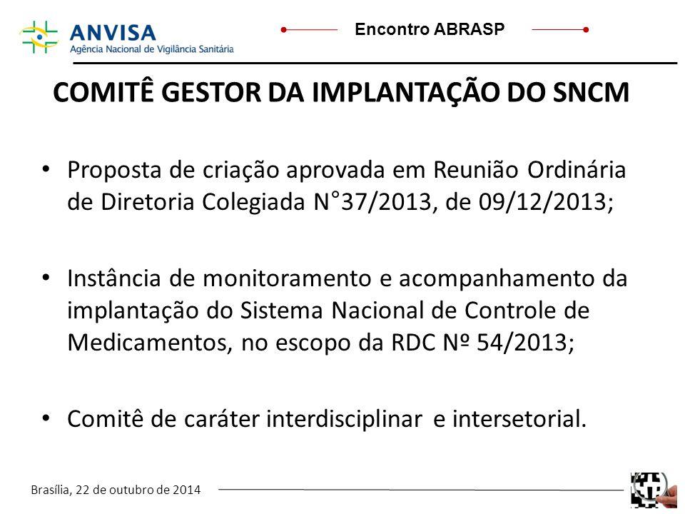 COMITÊ GESTOR DA IMPLANTAÇÃO DO SNCM