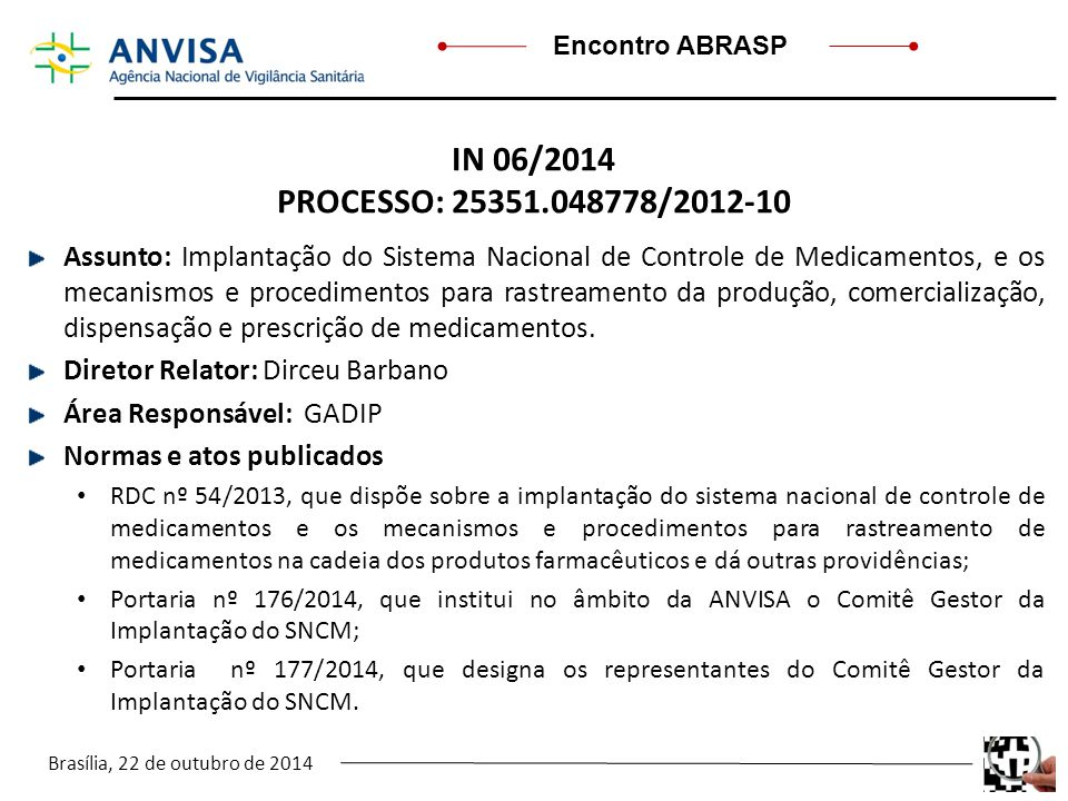 IN 06/2014 PROCESSO: 25351.048778/2012-10.