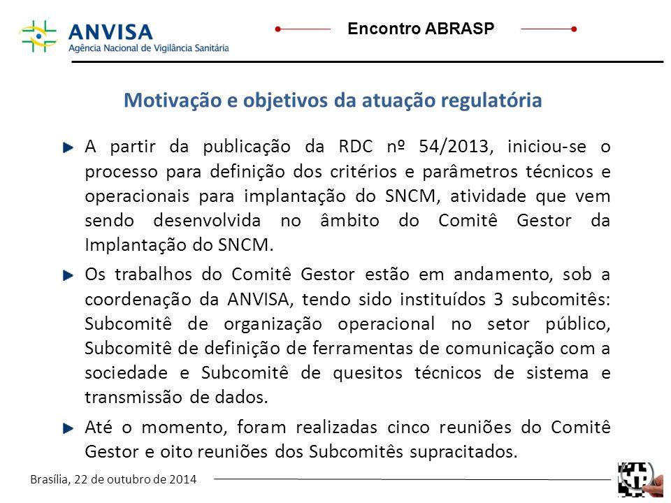 Motivação e objetivos da atuação regulatória