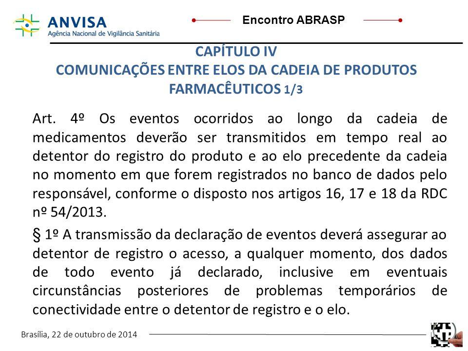 COMUNICAÇÕES ENTRE ELOS DA CADEIA DE PRODUTOS FARMACÊUTICOS 1/3