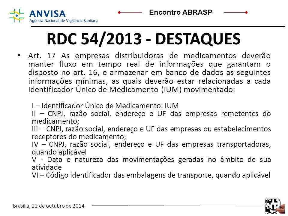 RDC 54/2013 - DESTAQUES