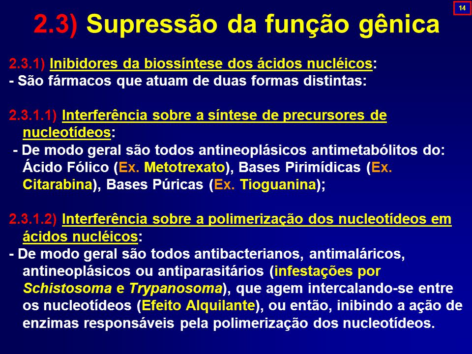 2.3) Supressão da função gênica