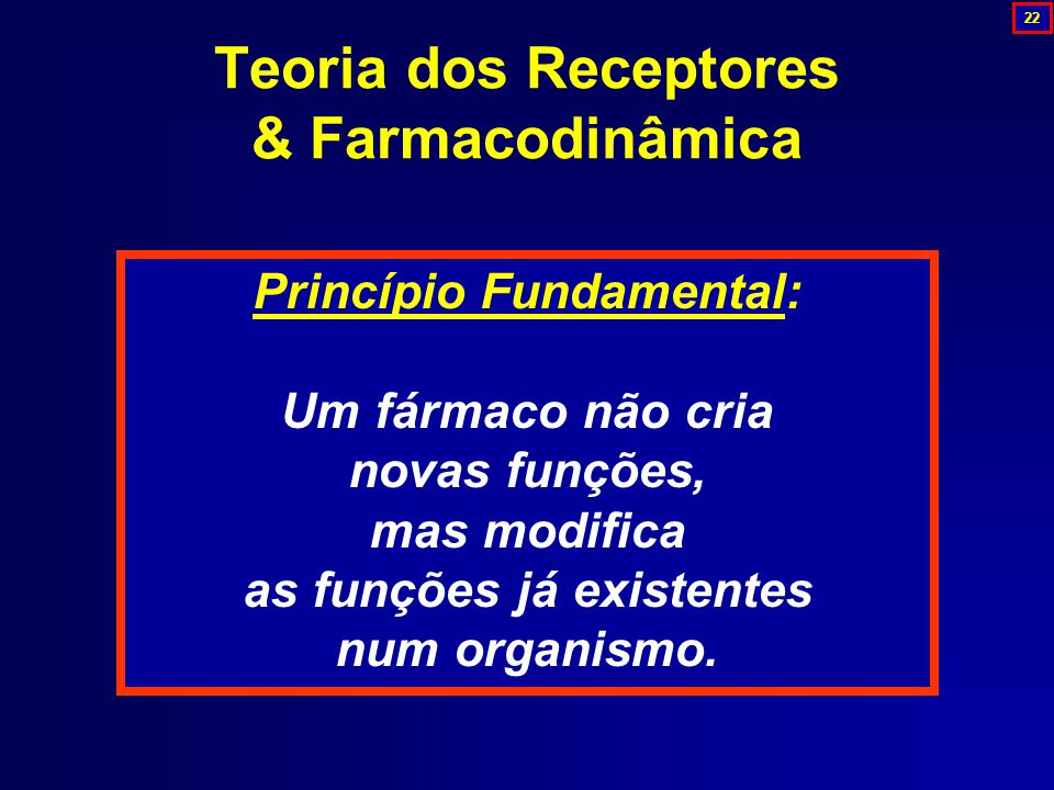 Teoria dos Receptores & Farmacodinâmica