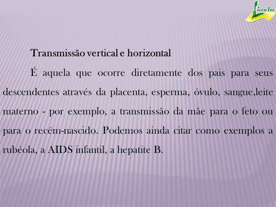 Transmissão vertical e horizontal