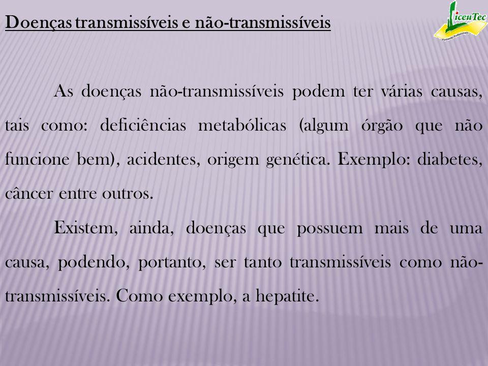 Doenças transmissíveis e não-transmissíveis