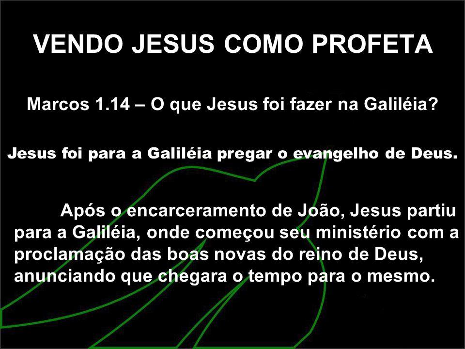 VENDO JESUS COMO PROFETA
