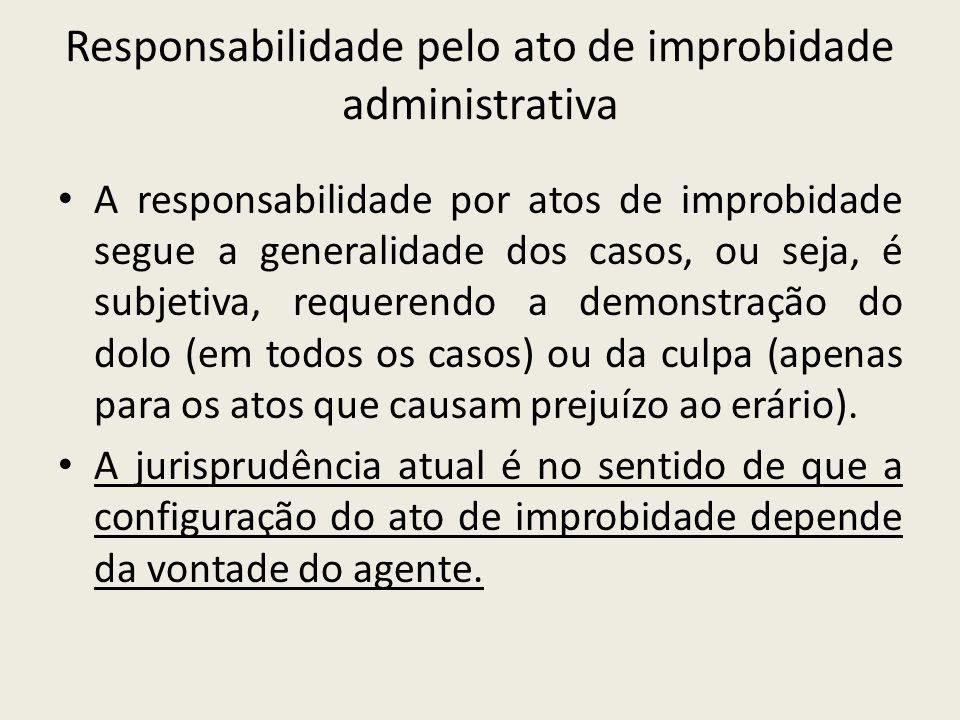 Responsabilidade pelo ato de improbidade administrativa