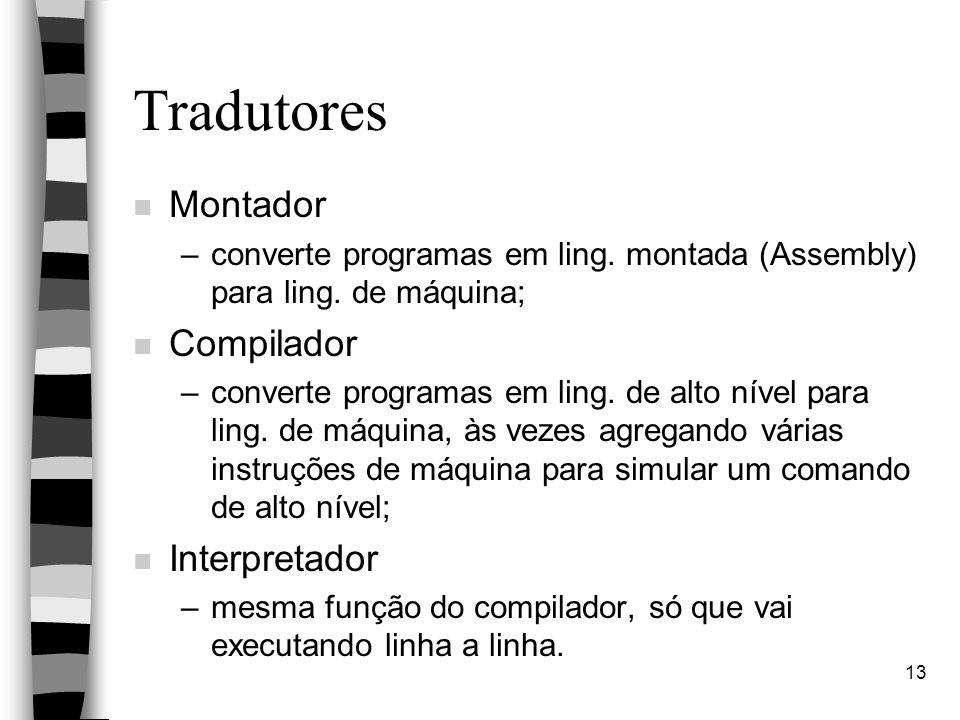 Tradutores Montador Compilador Interpretador