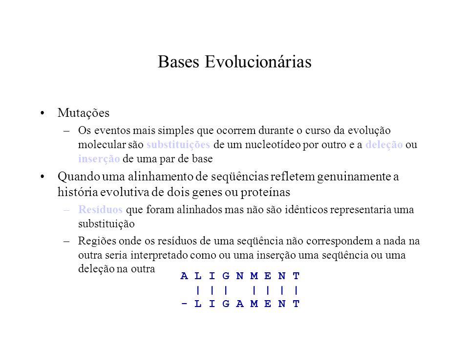 Bases Evolucionárias Mutações