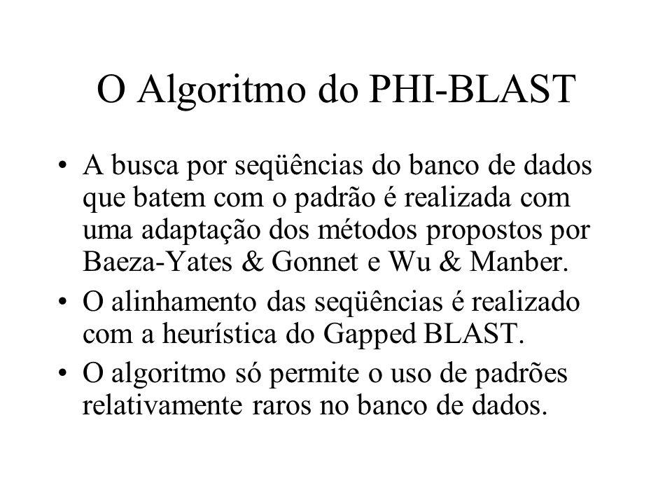O Algoritmo do PHI-BLAST