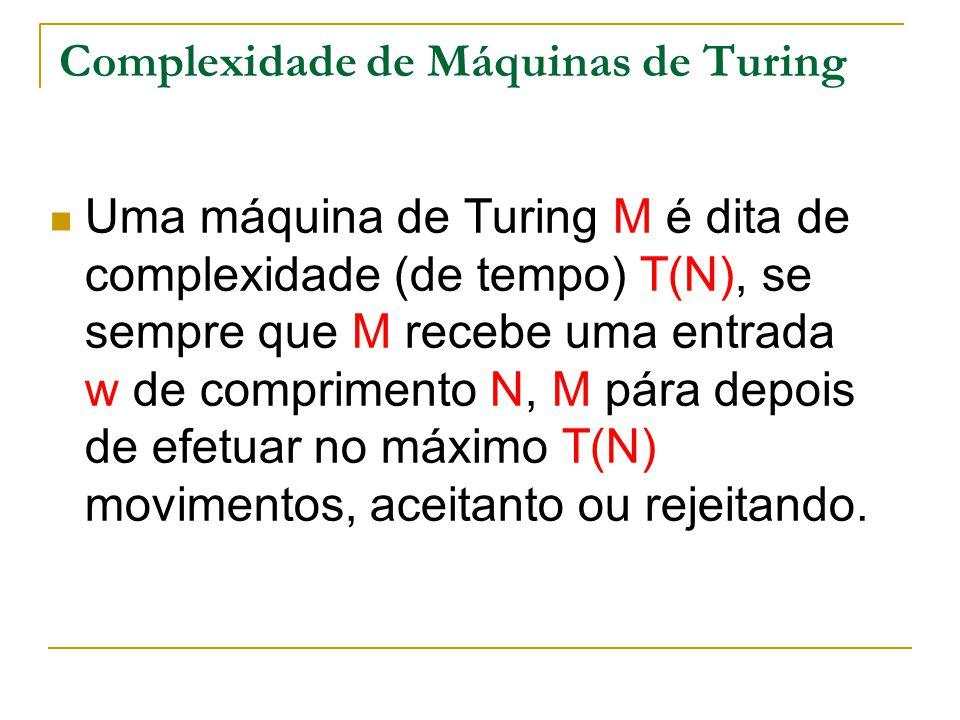 Complexidade de Máquinas de Turing