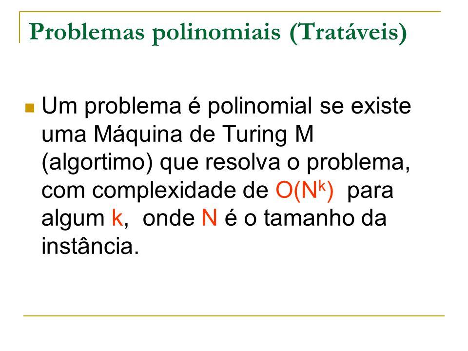 Problemas polinomiais (Tratáveis)