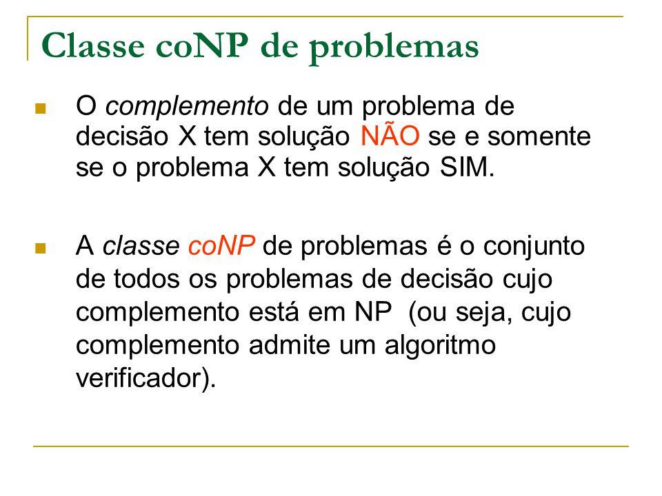 Classe coNP de problemas