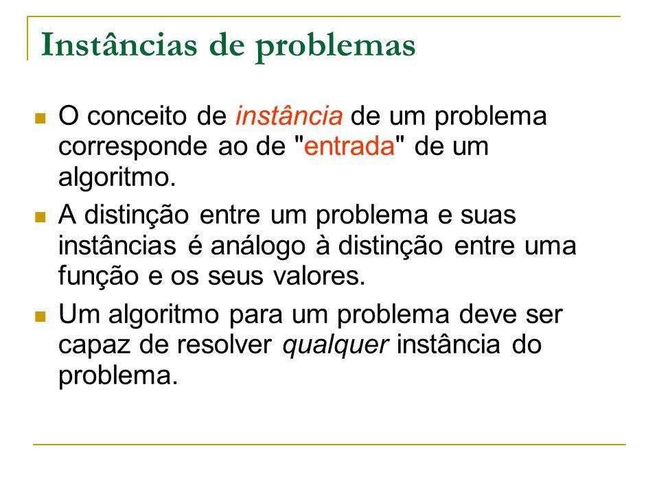 Instâncias de problemas