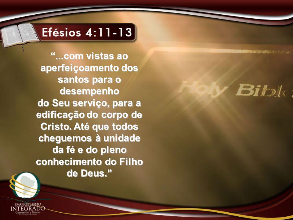 ...com vistas ao aperfeiçoamento dos santos para o desempenho do Seu serviço, para a edificação do corpo de Cristo.