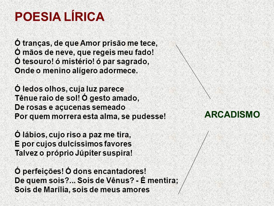 POESIA LÍRICA ARCADISMO