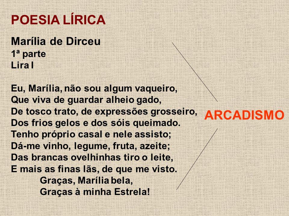 POESIA LÍRICA ARCADISMO Marília de Dirceu 1ª parte Lira I