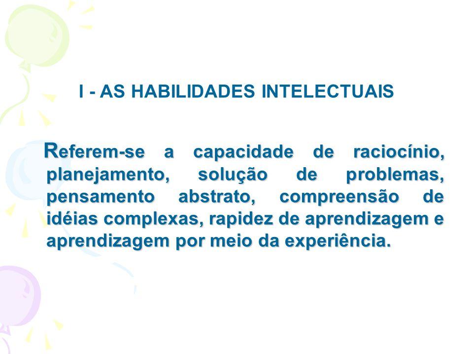 I - AS HABILIDADES INTELECTUAIS