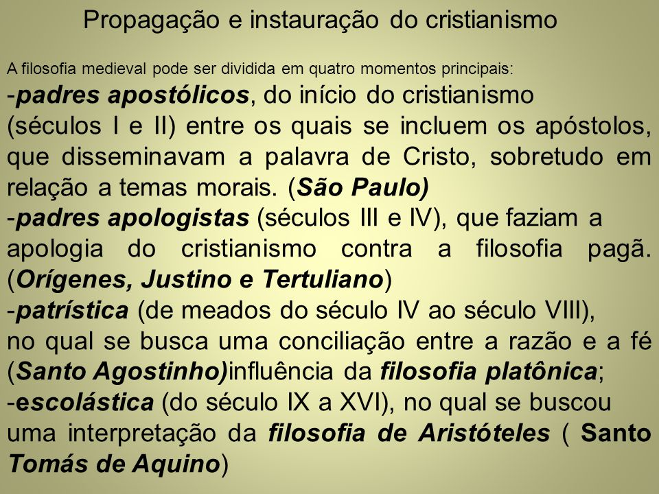 Propagação e instauração do cristianismo