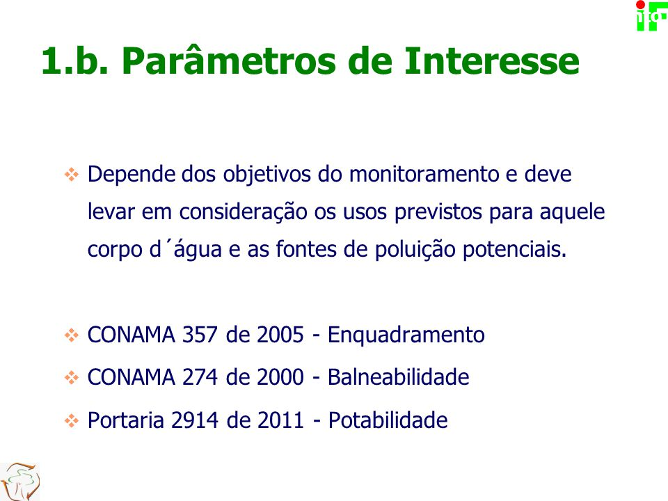 1.b. Parâmetros de Interesse