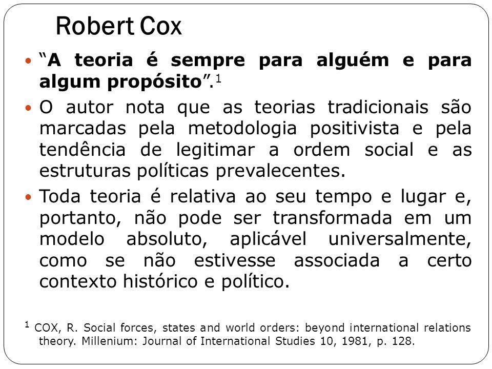Robert Cox A teoria é sempre para alguém e para algum propósito .1